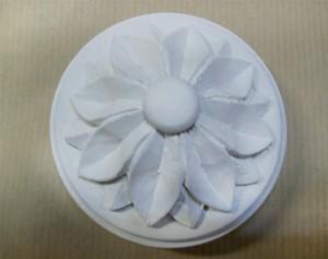 Rosace bois, blanc à l'échantillon